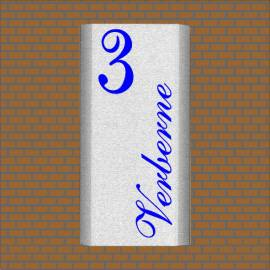 rvs naamplaat 1530zeeblauw vlak