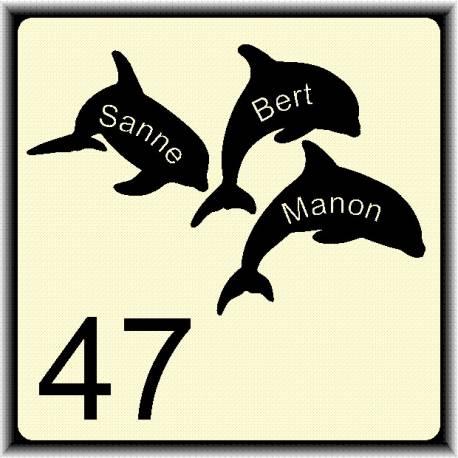 Naambordje dolfijnen dieren 108