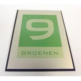 Naamplaat RVS look groenen