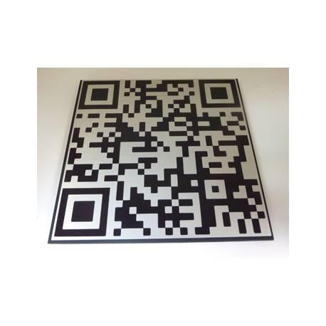 Naamplaat met eigen QR code Aluminium RVS look