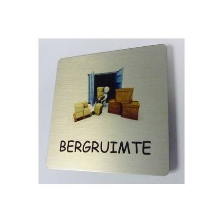 Pictogram Bergruimte Aluminium RVS look