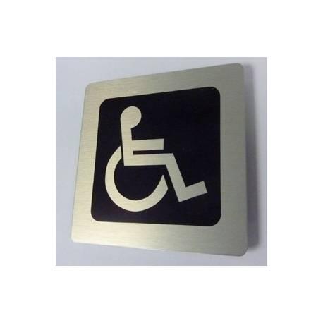 Pictogram rolstoel Aluminium RVS look