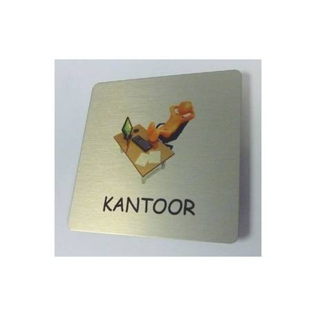 Pictogram Kantoor Aluminium RVS look