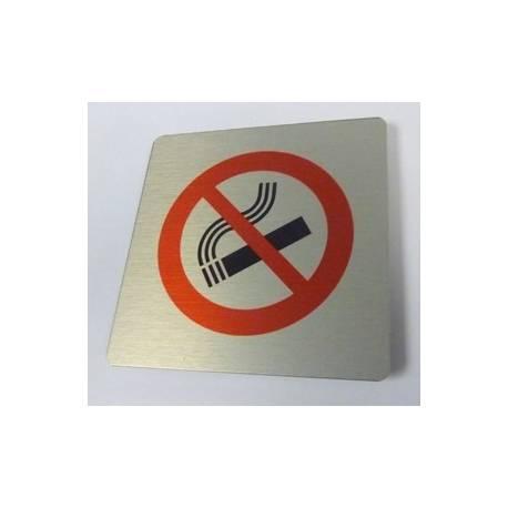 Pictogram Verboden te roken Aluminium RVS look