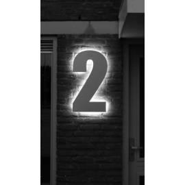 huisnummerbordje verlicht