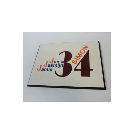 Naamplaat 34 eigen ontwerp