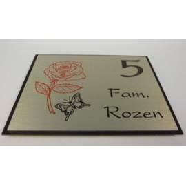 naambordje eigen ontwerp roos