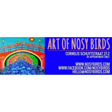 Naambordje met eigen ontwerp logo Artbirds