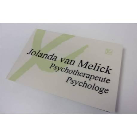RVS look Bedrijfsnaambord met logo praktijk psychologe