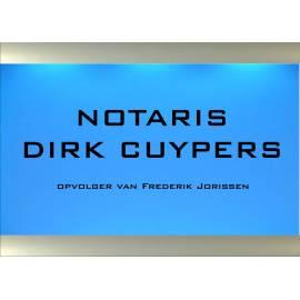 verlicht naambordje NOTARIS
