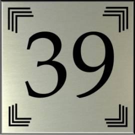 RVS look Huisnummerbord 39