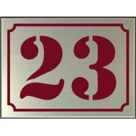 RVS look Huisnummerbordje 23