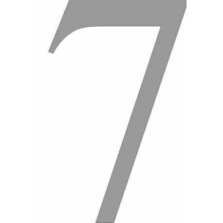 Led verlicht rvs huisnummer 7