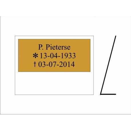 Standaard tekstbord / Staander in L vorm