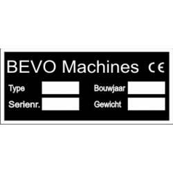 BEVO Machineplaatjes
