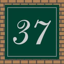 Huisnummerbordje Gravoglas Vierkant