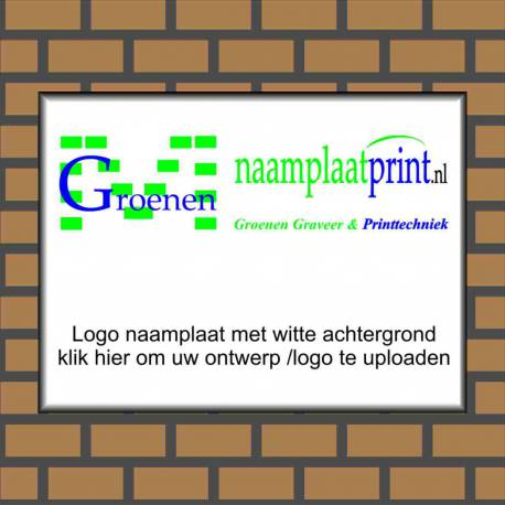 Bedrijfsnaambord eigen ontwerp logo Aluminium wit