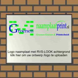 Bedrijfsnaamborden eigen ontwerp logo Aluminium RVS look
