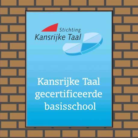 Bedrijfsnaambordje logo basisschool