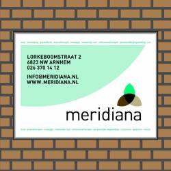 Bedrijfsnaambord logo Meridiana
