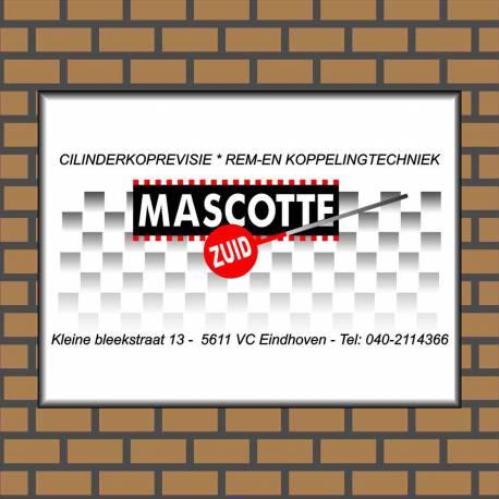 Bedrijfsnaambord logo Mascotte