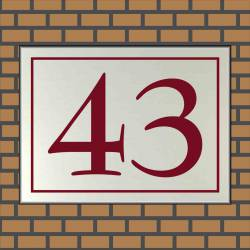 RVS look Huisnummerbordje 43