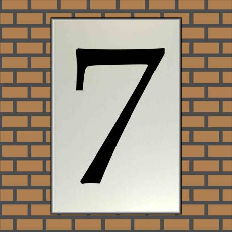 RVS look Huisnummerbord 7