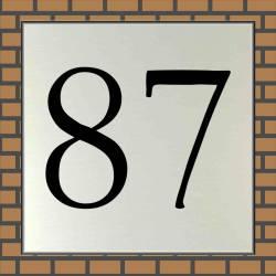 RVS look Huisnummerbordje 87
