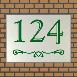 RVS look Huisnummerbordje 124