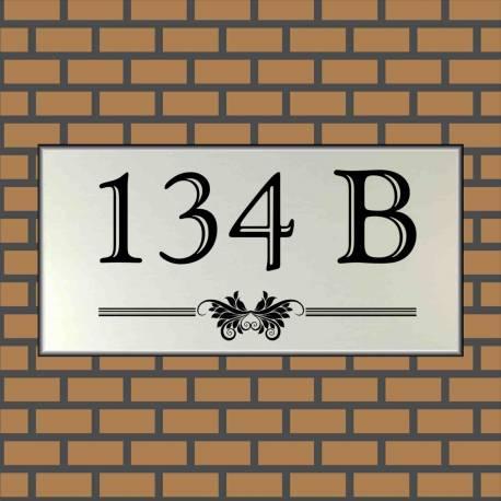 RVS look Huisnummerbord 134 B
