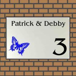 Naambordje met afbeelding vlinder 6