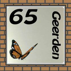 Naambordje vlinder 23
