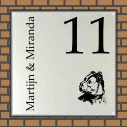 Naambord hond 11