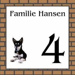 Naambordje hond 15