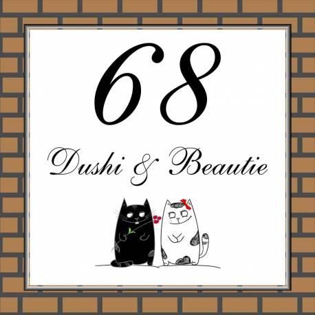 Naambordjes katten 68