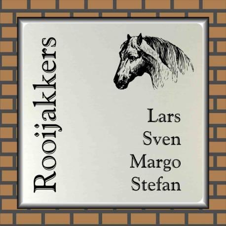 Naambordje paard 9