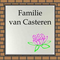 Naambordje RVS look Lotusbloem