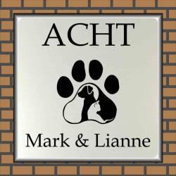 Naambordje voordeur Dieren Kat en Hond 8