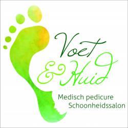 Naambord logo bedrijf van de Velden Medisch pedicure Schoonheidssalon