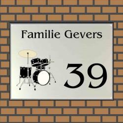 RVS LOOK naambord muziek 22
