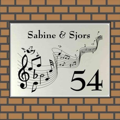 RVS LOOK naambord muziek 15