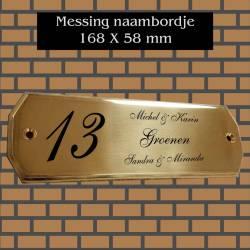 Messing Naambordje Rechthoek 168X58