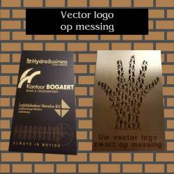 Logo op Messing