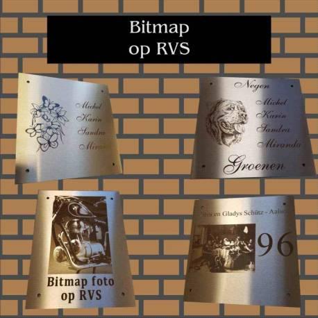 Foto Bitmap op RVS
