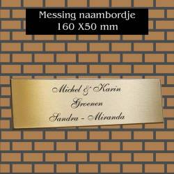 naambordje messing 160X30mm