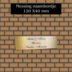 naambordje messing 120x40mm
