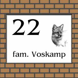 rvs-look naambordje vos