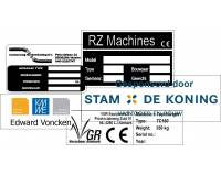 Type / Machineplaatjes